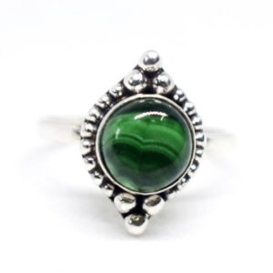 Shop Malachite Rings! Green Malachite Ring,Natural Malachite Ring,925 Sterling Silver Ring,Handmade Jewelry,Malachite Ring,Birthday Ring,Statement ring,Boho ring | Natural genuine Malachite rings, simple unique handcrafted gemstone rings. #rings #jewelry #shopping #gift #handmade #fashion #style #affiliate #ad