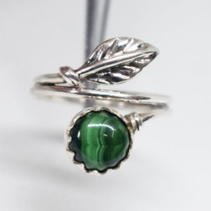 Shop Malachite Rings! Malachite Ring,Mother's Day Perfect Gift Ring,Natural Green Malachite Designer Ring,Solid 925 Sterling Silver Gemstone Ring,Birthday Gift | Natural genuine Malachite rings, simple unique handcrafted gemstone rings. #rings #jewelry #shopping #gift #handmade #fashion #style #affiliate #ad