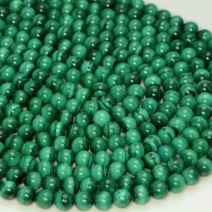 Shop Malachite Round Beads! 6mm Natural Malachite Gemstone Green Round 6mm Loose Beads 15.5 inch Full Strand (90147839-141) | Natural genuine round Malachite beads for beading and jewelry making.  #jewelry #beads #beadedjewelry #diyjewelry #jewelrymaking #beadstore #beading #affiliate #ad