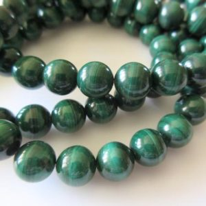 Shop Malachite Round Beads! 9mm Malachite Round Beads, Natural Malachite Beads, Wholesale Malachite Gemstones, 15 Inch Strand, SKU-2973/1 | Natural genuine round Malachite beads for beading and jewelry making.  #jewelry #beads #beadedjewelry #diyjewelry #jewelrymaking #beadstore #beading #affiliate #ad