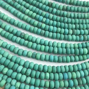 Shop Turquoise Rondelle Beads! Matte Turquoise Rondelle Beads ,Gemstone Loose Beads 8x5mm | Natural genuine rondelle Turquoise beads for beading and jewelry making.  #jewelry #beads #beadedjewelry #diyjewelry #jewelrymaking #beadstore #beading #affiliate #ad