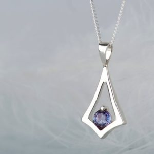 Shop Alexandrite Necklaces! Minimalist alexandrite pendant necklace, June birthstone dainty necklace | Natural genuine Alexandrite necklaces. Buy crystal jewelry, handmade handcrafted artisan jewelry for women.  Unique handmade gift ideas. #jewelry #beadednecklaces #beadedjewelry #gift #shopping #handmadejewelry #fashion #style #product #necklaces #affiliate #ad