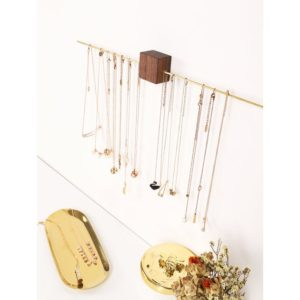 Shop Storage for Beading Supplies! Minimalist Wall Jewelry Rack, Wood Jewelry Rack, Wall Jewelry Hanger, Wood Jewelry Display,  Necklace organizer wall, Jewelry wall organizer | Shop jewelry making and beading supplies, tools & findings for DIY jewelry making and crafts. #jewelrymaking #diyjewelry #jewelrycrafts #jewelrysupplies #beading #affiliate #ad