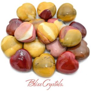 Shop Mookaite Stones & Crystals! 1 MOOKAITE Jasper Heart Stone 1.5 inch Polished Healing Crystal and Stone #MJ23 | Natural genuine stones & crystals in various shapes & sizes. Buy raw cut, tumbled, or polished gemstones for making jewelry or crystal healing energy vibration raising reiki stones. #crystals #gemstones #crystalhealing #crystalsandgemstones #energyhealing #affiliate #ad