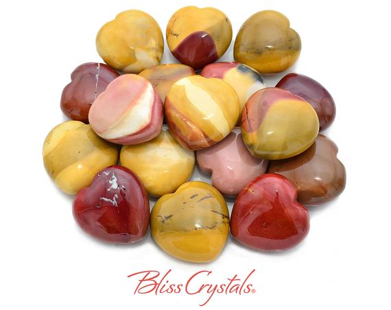 1 Mookaite Jasper Heart Stone 1.5 Inch Polished Healing Crystal And Stone #mj23