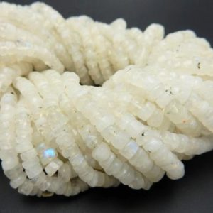 Shop Rainbow Moonstone Beads! Moonstone Beads — FIVE (5) STRANDS of Rainbow Moonstone Round Chip Beads– (S105B5-02) | Natural genuine beads Rainbow Moonstone beads for beading and jewelry making.  #jewelry #beads #beadedjewelry #diyjewelry #jewelrymaking #beadstore #beading #affiliate #ad