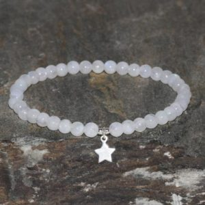 Moonstone Beaded Bracelet 4mm Handmade Moonstone Jewelry Spiritual Healing Crystals Grade AAA Moonstone Beads Silver Star Feminine Energy | Natural genuine Gemstone bracelets. Buy crystal jewelry, handmade handcrafted artisan jewelry for women.  Unique handmade gift ideas. #jewelry #beadedbracelets #beadedjewelry #gift #shopping #handmadejewelry #fashion #style #product #bracelets #affiliate #ad
