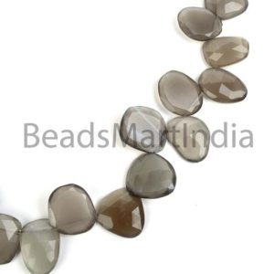 Shop Moonstone Chip & Nugget Beads! Gray Moonstone Faceted Table Cut Nugget Beads, Gray Moonstone Nuggets Shape Beads, Faceted Gray Moonstone Natural Beads, Gray Moonstone | Natural genuine chip Moonstone beads for beading and jewelry making.  #jewelry #beads #beadedjewelry #diyjewelry #jewelrymaking #beadstore #beading #affiliate #ad