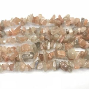 Shop Moonstone Chip & Nugget Beads! Natural Multicolour Moonstone 5-8mm Chips Genuine Loose Nugget Beads 34 inch Jewelry Supply Bracelet Necklace Material Support | Natural genuine chip Moonstone beads for beading and jewelry making.  #jewelry #beads #beadedjewelry #diyjewelry #jewelrymaking #beadstore #beading #affiliate #ad