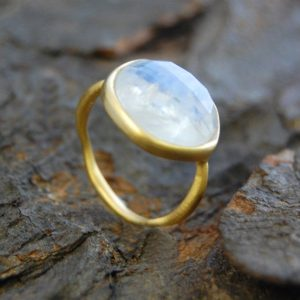 Gold Ring, Birthstone Jewelry, Gemstone Ring, Gold Ring With Stone, Moonstone Ring, Gold Gemstone Ring, White Gemstone, Natural Stone Ring | Natural genuine Array jewelry. Buy crystal jewelry, handmade handcrafted artisan jewelry for women.  Unique handmade gift ideas. #jewelry #beadedjewelry #beadedjewelry #gift #shopping #handmadejewelry #fashion #style #product #jewelry #affiliate #ad