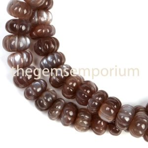 Shop Moonstone Rondelle Beads! Chocolate Moonstone Carving Rondelle Gemstone Beads, Moonstone Carving Gemstone Beads, Aaa Quality, gemstone For Jewelry Making | Natural genuine rondelle Moonstone beads for beading and jewelry making.  #jewelry #beads #beadedjewelry #diyjewelry #jewelrymaking #beadstore #beading #affiliate #ad