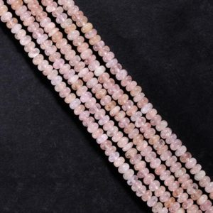 Shop Morganite Rondelle Beads! Morganite Gemstone Beads Pink Morganite Smooth Beads For Jewelry Making Natural Pink Morganite Rondelle Pink Beads For Jewelry Making | Natural genuine rondelle Morganite beads for beading and jewelry making.  #jewelry #beads #beadedjewelry #diyjewelry #jewelrymaking #beadstore #beading #affiliate #ad