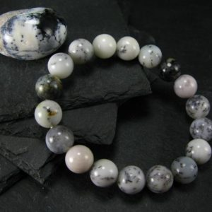 Shop Moss Agate Bracelets! Merlinite Moss Agate Genuine Bracelet ~ 7 Inches  ~ 10mm Round Beads | Natural genuine Moss Agate bracelets. Buy crystal jewelry, handmade handcrafted artisan jewelry for women.  Unique handmade gift ideas. #jewelry #beadedbracelets #beadedjewelry #gift #shopping #handmadejewelry #fashion #style #product #bracelets #affiliate #ad