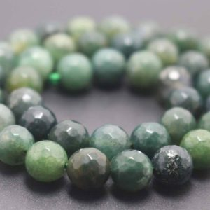 Shop Moss Agate Beads! 128 Faceted Moss agate Round Beads,6mm/8mm/10mm/12mm Gemstone Beads Supply,15 inches one starand | Natural genuine beads Moss Agate beads for beading and jewelry making.  #jewelry #beads #beadedjewelry #diyjewelry #jewelrymaking #beadstore #beading #affiliate #ad