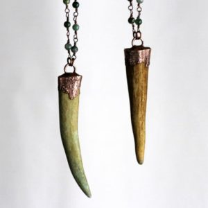 Shop Moss Agate Necklaces! Deer Antler Necklace – Moss Agate Necklace – Rosary Chain Necklace – Witchy Jewelry – Woodland Jewelry | Natural genuine Moss Agate necklaces. Buy crystal jewelry, handmade handcrafted artisan jewelry for women.  Unique handmade gift ideas. #jewelry #beadednecklaces #beadedjewelry #gift #shopping #handmadejewelry #fashion #style #product #necklaces #affiliate #ad