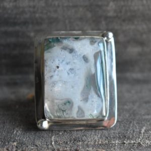 Shop Moss Agate Rings! natural big moss agate ring,925 silver ring,moss agate ring,natural agate ring,white moss agate ring,agate ring,gemstone ring   Natural genuine Moss Agate rings, simple unique handcrafted gemstone rings. #rings #jewelry #shopping #gift #handmade #fashion #style #affiliate #ad