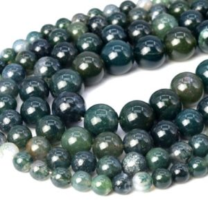 Botanical Moss Agate Beads Grade AAA Genuine Natural Gemstone Round Loose Beads 4-5MM 6MM 8MM 10MM 12MM Bulk Lot Options | Natural genuine round Gemstone beads for beading and jewelry making.  #jewelry #beads #beadedjewelry #diyjewelry #jewelrymaking #beadstore #beading #affiliate #ad