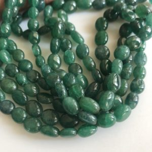 Shop Emerald Bead Shapes! Multi Strand Dyed Beryl Color Emerald Necklace, Natural Beryl Emerald Oval Beads, 3 Strand Emerald Necklace, 7mm To 10mm Beads, GDS1754 | Natural genuine other-shape Emerald beads for beading and jewelry making.  #jewelry #beads #beadedjewelry #diyjewelry #jewelrymaking #beadstore #beading #affiliate #ad