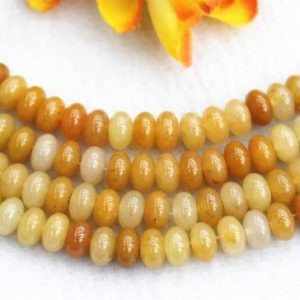 "Shop Aventurine Rondelle Beads! Natura Aventurine Rondelle beads 4x6mm 5x8mm yellow Aventurine beads wholesale,beads supply 15"" strand 