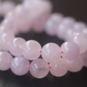 Natural AAA Pink Morganite Smooth and Round Beads,6mm/8mm/10mm/12mm Pink Morganite Beads,15 inches one starand | Natural genuine round Gemstone beads for beading and jewelry making.  #jewelry #beads #beadedjewelry #diyjewelry #jewelrymaking #beadstore #beading #affiliate #ad