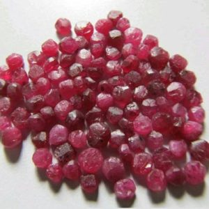Shop Raw & Rough Ruby Stones! Natural and untreated raw Mozambique ruby rough beads-Mozambique rough-Red ruby beads – U82 | Natural genuine stones & crystals in various shapes & sizes. Buy raw cut, tumbled, or polished gemstones for making jewelry or crystal healing energy vibration raising reiki stones. #crystals #gemstones #crystalhealing #crystalsandgemstones #energyhealing #affiliate #ad