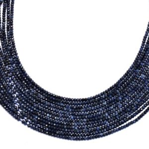Shop Sapphire Rondelle Beads! Natural Blue Sapphire Faceted Rondelle Beads | Gemstone 2mm-3mm Beads 13inch Strand | AAA+ Blue Sapphire Precious Gemstone Faceted Beads | Natural genuine rondelle Sapphire beads for beading and jewelry making.  #jewelry #beads #beadedjewelry #diyjewelry #jewelrymaking #beadstore #beading #affiliate #ad