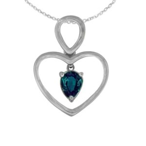 Shop Alexandrite Pendants! Natural Brazilian Alexandrite Color Change Heart Pendant In 14k White Gold .with Certifcate Free Shipping In The Usa | Natural genuine Alexandrite pendants. Buy crystal jewelry, handmade handcrafted artisan jewelry for women.  Unique handmade gift ideas. #jewelry #beadedpendants #beadedjewelry #gift #shopping #handmadejewelry #fashion #style #product #pendants #affiliate #ad