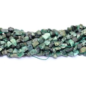 Shop Emerald Chip & Nugget Beads! Natural Emerald 8mm-12mm Raw Rough Nuggets | 14inch Strand | Precious Green Emerald Gemstone Smooth Uneven Tumbled Beads for Jewelry Making | Natural genuine chip Emerald beads for beading and jewelry making.  #jewelry #beads #beadedjewelry #diyjewelry #jewelrymaking #beadstore #beading #affiliate #ad
