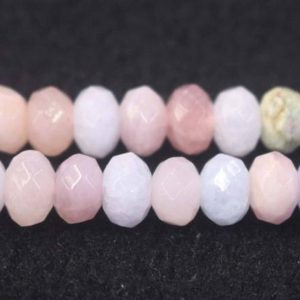 "Shop Morganite Rondelle Beads! Natural Faceted Morganite Rondelle Beads,Morganite Beads,4x6mm 5x8mm 6x10mm Natural beads,one strand 15"",128 Faceted Morganite Beads 