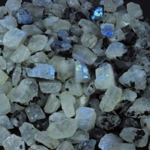 Shop Raw & Rough Rainbow Moonstone Stones! Natural Rainbow Moonstone Raw, Blue Rainbow moonstone Rough material, Small size Loose gemstone Raw, Top Quality Rainbow moonstone Crystal | Natural genuine stones & crystals in various shapes & sizes. Buy raw cut, tumbled, or polished gemstones for making jewelry or crystal healing energy vibration raising reiki stones. #crystals #gemstones #crystalhealing #crystalsandgemstones #energyhealing #affiliate #ad
