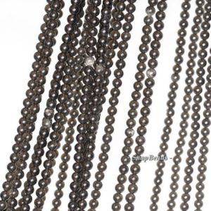 Shop Obsidian Beads! 2mm Chatoyant Mystique Black Obsidian Gemstone Round 2mm Loose Beads 16 inch Full Strand (90113950-107 – 2mm A) | Natural genuine beads Obsidian beads for beading and jewelry making.  #jewelry #beads #beadedjewelry #diyjewelry #jewelrymaking #beadstore #beading #affiliate #ad