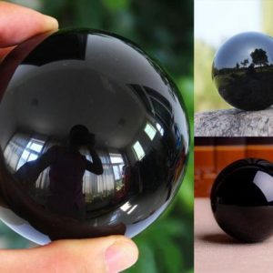 "Shop Obsidian Shapes! Black Obsidian Crystal Ball Sphere 60mm (2.36"") 