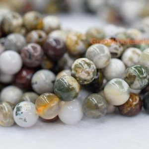 "15.5"" 8mm/10mm/12mm Natural Ocean jasper round beads, jewelry beads supply FM 
