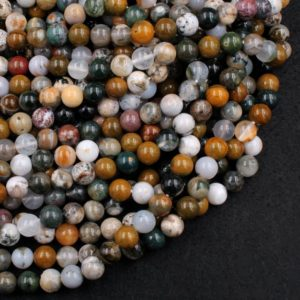 "Shop Ocean Jasper Beads! Natural Ocean Jasper 6mm 8mm 10mm Beads High Quality Polished Round Beads 15.5"" Strand 