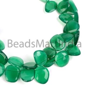 Shop Onyx Chip & Nugget Beads! Green Onyx Faceted Table Cut Nuggets Shape Beads, Green Onyx Nuggets Shape Beads, Green Onyx Beads, Faceted Green Onyx Natural Beads | Natural genuine chip Onyx beads for beading and jewelry making.  #jewelry #beads #beadedjewelry #diyjewelry #jewelrymaking #beadstore #beading #affiliate #ad