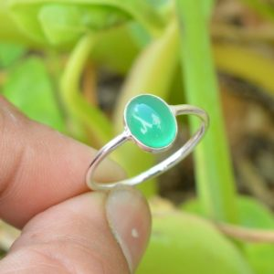 Shop Onyx Rings! Natural Green Onyx Ring, 925 Silver Rings, 7×9 mm Oval Green Onyx Ring, Gemstone Ring, Women Rings, Silver Jewelry, Green Onyx Gemstone Ring | Natural genuine Onyx rings, simple unique handcrafted gemstone rings. #rings #jewelry #shopping #gift #handmade #fashion #style #affiliate #ad