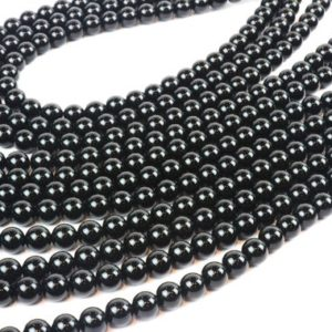 "Shop Onyx Round Beads! A grade black onyx beads,gemstone beads,round beads,smooth beads,jewelry supplies,beads wholesale,black beads – 16"" Strand 