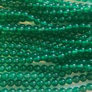 Shop Onyx Round Beads! Green Onyx  4mm 6mm Round Gemstone Bead -15.5 inch strand | Natural genuine round Onyx beads for beading and jewelry making.  #jewelry #beads #beadedjewelry #diyjewelry #jewelrymaking #beadstore #beading #affiliate #ad