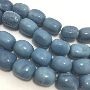 Shop Opal Chip & Nugget Beads! Blue Opal Smooth Tumble Beads, 13mm To 16mm, 18 Inches, Blue Beads, Gemstone Beads, Semiprecious Stone Beads | Natural genuine chip Opal beads for beading and jewelry making.  #jewelry #beads #beadedjewelry #diyjewelry #jewelrymaking #beadstore #beading #affiliate #ad