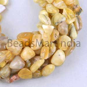 Shop Opal Chip & Nugget Beads! Natural Yellow Opal Smooth Nugget Beads, Yellow Opal Plain Beads, Yellow Opal Smooth Beads, Opal Nugget Beads, Yellow Opal Beads | Natural genuine chip Opal beads for beading and jewelry making.  #jewelry #beads #beadedjewelry #diyjewelry #jewelrymaking #beadstore #beading #affiliate #ad