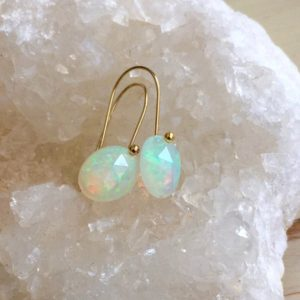 Shop Opal Jewelry! Opal Earrings Welo Opal Rose Cut Earrings Opal Jewelry Genuine Opal October Birthstone | Natural genuine Opal jewelry. Buy crystal jewelry, handmade handcrafted artisan jewelry for women.  Unique handmade gift ideas. #jewelry #beadedjewelry #beadedjewelry #gift #shopping #handmadejewelry #fashion #style #product #jewelry #affiliate #ad