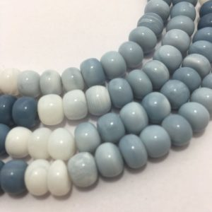 Shop Opal Rondelle Beads! Natural Blue Opal Plain Rondelle Beads, 8mm To 8.5mm, 18 Inches, Blue Beads, Opal Beads, Gemstone Beads, Semiprecious Stone Beads | Natural genuine rondelle Opal beads for beading and jewelry making.  #jewelry #beads #beadedjewelry #diyjewelry #jewelrymaking #beadstore #beading #affiliate #ad