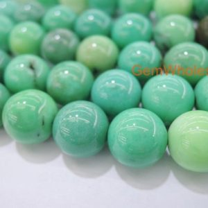 "Shop Opal Beads! 15.5"" Moss Green Opal 4mm/8mm/10mm/12mm/14mm round beads, Natural Green gemstone, semi-precious stone, Spring DIY jewelry beads 