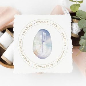 Shop Printable Crystal Cards, Pages, & Posters! Opalite Stone Jewelry Display Card – Printable – Gemstone Meaning Card – Jewelry Box Insert – Gemstone Jewelry Card – Jewelry Gift Tag | Shop jewelry making and beading supplies, tools & findings for DIY jewelry making and crafts. #jewelrymaking #diyjewelry #jewelrycrafts #jewelrysupplies #beading #affiliate #ad