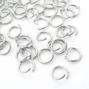 Shop Findings for Jewelry Making! Open Heavy Duty Jump Rings, 16 gauge, 1.2mm Thick, Stainless Steel, Unsoldered, Choose 6mm, 7mm, 9mm,  Lot Size 100 to 1000 | Shop jewelry making and beading supplies, tools & findings for DIY jewelry making and crafts. #jewelrymaking #diyjewelry #jewelrycrafts #jewelrysupplies #beading #affiliate #ad