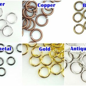 Shop Jump Rings! Open Jump Ring Thin Round Connector Attach Charm Clasp 4mm 5mm 7mm Jump ring 6mm 7mm | 21 Gauge | Gold,Brass,Copper,Silver |Jewelry Findings | Shop jewelry making and beading supplies, tools & findings for DIY jewelry making and crafts. #jewelrymaking #diyjewelry #jewelrycrafts #jewelrysupplies #beading #affiliate #ad