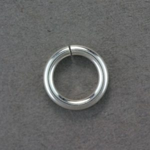 "Shop Jump Rings! Open Jump Ring Sterling Silver 10.0mm ID x .064"" (14ga) (Pkg of 10)(900S-10064) 