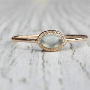 Shop Blue Chalcedony Rings! Oval Chalcedony Ring, Blue Chalcedony Ring in Solid  14k gold, Natural Chalcedony ring, Solitaire Chalcedony gold ring, Blue Stone ring | Natural genuine Blue Chalcedony rings, simple unique handcrafted gemstone rings. #rings #jewelry #shopping #gift #handmade #fashion #style #affiliate #ad