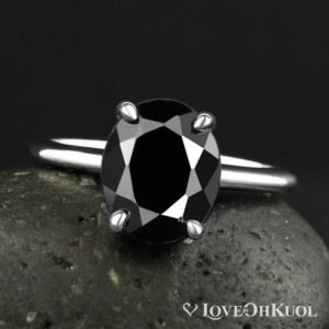 Shop Black Tourmaline Rings! Oval Cut Black Tourmaline Ring – Prong Set Tourmaline Ring – Choose Your Setting | Natural genuine Black Tourmaline rings, simple unique handcrafted gemstone rings. #rings #jewelry #shopping #gift #handmade #fashion #style #affiliate #ad