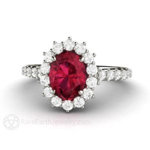 Oval Ruby Ring Ruby Engagement Ring  Diamonds July Birthstone Gemstone Red Ring 14K or 18K Gold Wedding Ring | Natural genuine Gemstone rings, simple unique alternative gemstone engagement rings. #rings #jewelry #bridal #wedding #jewelryaccessories #engagementrings #weddingideas #affiliate #ad